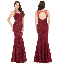 Hollowed Sequined Mermaid Prom Dress Evening Formal Party Bridesmaid Dress Gown