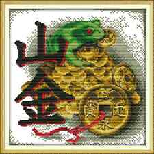 Kit broderie point de croix imprimé/compté,11CT/14CT,Cross Stitch Grenouille