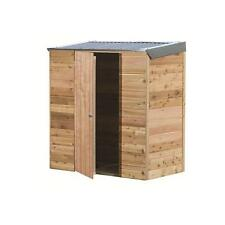 New garden storage Interlock Cedar Shed - Terrace - 1.84mw x 1.04md x 1.98mh