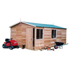 New garden storage Cedar Shed -Macedon Deluxe - 3.8mw x 6.0md x 2.7mh