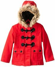 Dollhouse Girls 2-6x Little Toggle Coat W/ Faux Fur Hood- Choose SZ/Color.