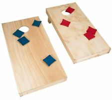 ACA Regulation Stained Cornhole Toss Boards & 8 Bean Bags Game Set, 2x4 Frames