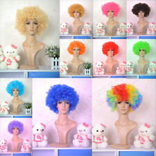 16 Colors Afro Wigs Men's Women's Curly Clown Circus Costume Dress up Fan Wig