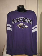 NFL Baltimore Ravens Football Long Sleeve Hashmark T Shirt Mens Sizes  Majestic