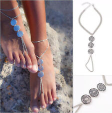 Punk Fashion Women's Chain Coin Anklet bracelet Arm Chian Beach Jewelry Gift New