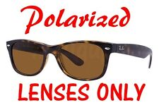 POLARIZED BROWN B-15 Replacement Lenses Ray Ban RB2132 New Wayfarer 55mm 52mm
