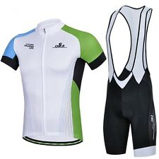 Outdoor Sports Cycling Bike Bicycle Wear Short Sleeve Jersey + Bib Shorts S-XXXL