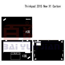 Laptop Leather Carbon fiber Skin Cover For Lenovo ThinkPad X1 Carbon 3rd 2015