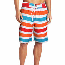 Mens Stripe Beach Board Shorts Quick Dry Surf Trunks Shorts Swimming Pants