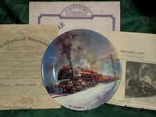 DAVENPORT COLLECTIBLE PLATES  - Great Steam Trains  MINT