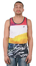 Staple Pigeon Men's Paradise Tank Top Multi-Colored Red / White Muscle Shirt