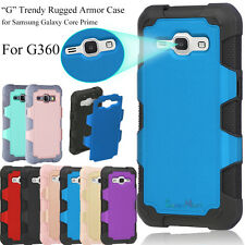 Hybrid Dual Layer Hard Case Cover For Samsung Galaxy Core Prime Prevail LTE G360