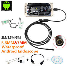 2M/3.5M/5M 6 LED Android Endoscope Borescope Waterproof Inspection Video Camera