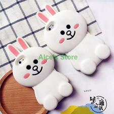 For apple iphone 6 6S plus 5S Cute 3D Cartoon White Rabbit silicone case cover