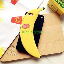 For Apple iPhone 6/6S 6Plus Cute Korean Banana Black Silicone Soft  Case Cover