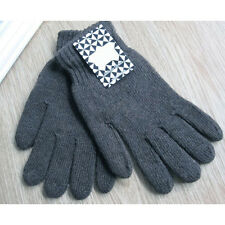 Hotsale Men's Solid Color Knitted Gloves Thicken Thermal Wool Knitted Gloves