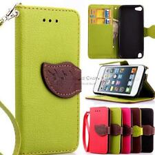 Magnetic Flip PU Leather Case Cover Pouch Strap for Apple iPod Touch 5th/6th Gen