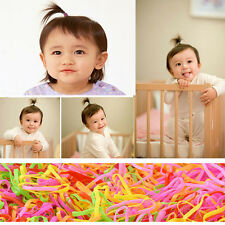 400pc  Cute Kids Girl Rubber Hairband Rope Hair Band Ties Ponytail Holder Braids