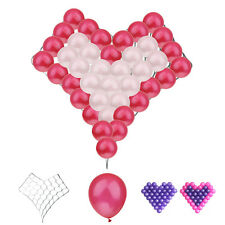 40pcs Balloons Heart-shaped Modeling Grid Wedding Prom Party Decor Mixed Colors
