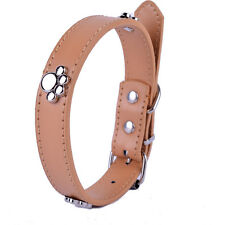 Fashion Pet Dog Collar Adjustable Buckle Pu Leather Small Dog Necklace Supplies