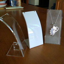 Jewelry Necklaces Pendant Acrylic Display stand show case Holder Organizer rack