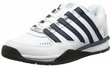 K. Swiss Baxter White Navy Mens Leather Trainers Shoes