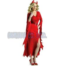 Adult Womens Fancy Dress Sexy red devils witch Cosplay Costumes Halloween Outfit