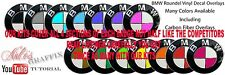 BMW M3 Roundel Emblem Badge Overlay Decal Sticker FITS BMW HOOD TRUNK RIMS