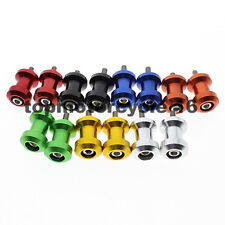 6mm A Set Swingarm Spools Sliders For APRILIA Triumph YAMAAH BUELL Aluminum CNC