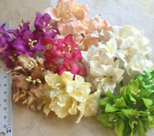 50 Artificial Mulberry Paper Tiny Lily flowers Handmade Scrap-booking 45 mm #C