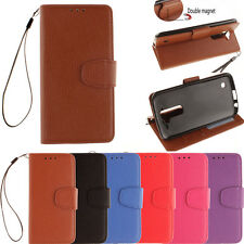 For LG K7 / Tribute 5 Cell Phone Case Magnet PU Leather Wallet Pouch Flip Cover
