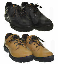 MENS BLACK OR HONEY DUNLOP PROTECTIVE SAFETY TOE CAP WORK TRAINERS SIZES 9 - 13