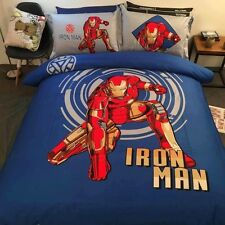 *** Iron Man Single Bed Quilt Cover Set - Flat or Fitted Sheet ***