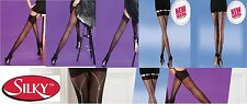 Seamed Back Line Tights Stockings Hold Ups Burlesque 40s 50s Vintage Retro Cuban