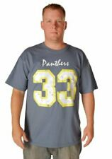 Adult Indigo Blue Friday Night Lights Football Panthers 33 Riggins T-shirt Tee