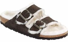 Birkenstock Womens Arizona Mocha Shearling Suede And Shearling
