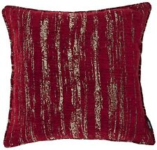 McAlister Textiles Metallic Textured Chenille Red Scatter Cushions & Covers