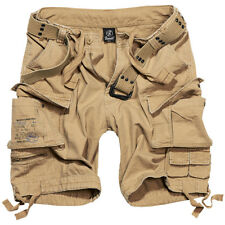 Brandit Savage Vintage Cargo Combat Mens Summer Shorts Army Camping Hiking Beige