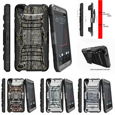 For HTC Desire 530 | Desire 630 Rugged Holster Clip Case Skinny Tree Branch Camo
