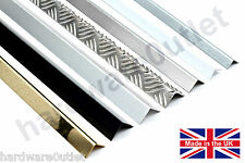 Corner Protector Angle Folded  Aluminium Stainless Steel Brass & Chequer Plate