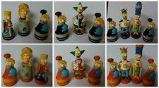 The Simpsons Figures 3-D Chess Game Characters Figures Homer Bart Marge Lisa UK