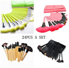 24pcs set Makeup Brush Set with bag Cosmetic Foundation blending pencil brushes