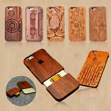 Natural Wooden Wood Bamboo Hard Back Case Cover for Apple iPhone 6 6s Plus