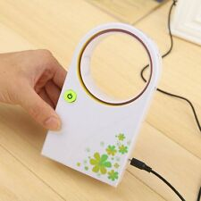 Portable USB No Leaf Fan Mini Bladeless Refrigeration Desktop Air Conditi@2015