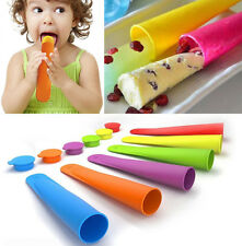 4PC Silicone Push Up Ice Cream Jelly Lolly Pop For Popsicle Maker Mould Mold DIY