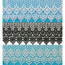 """Lily Black 4.75"""", White 4.25"""", Off White 4.25"""" Venice  Lace Trim By Yardage"""
