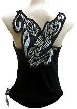 Rockabilly Punk Scene Skirt Baby Silver Tattoo Panther Tank Top Xs / S / M / L /