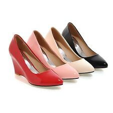 New Quality Pointed Wedge High Heel Sexy Party Wedding Women Shoes US Size s714