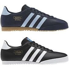 ADIDAS BAMBA TRAINERS BLACK NAVY SHOES UK SIZE 7-12