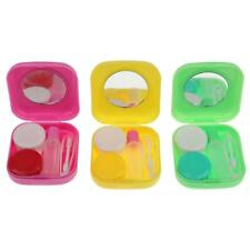 Portable Outdoor Travel Contact Lens Case Holder Container Mirror Storage Box
